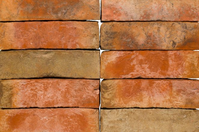 Terca Kastanjebruin ceramic bricks from Belgium.