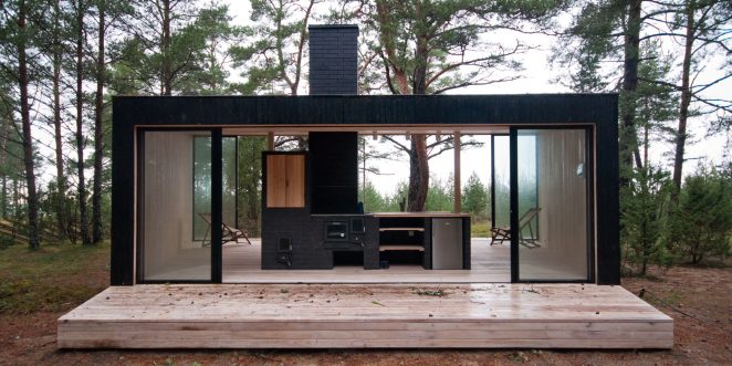 Outdoor kitchen. Used materials: Terca Nero smoot bricks. from Aseri brick plant (Estonia).